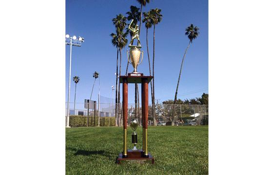 The Rosti 1st Annual SMLL Home Run Derby Trophy.
