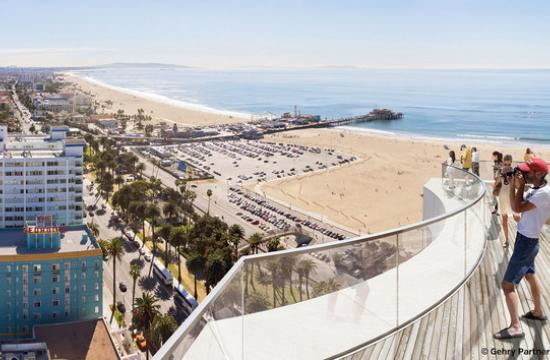 A rendering of the view from the viewing deck of the Ocean Avenue Project.