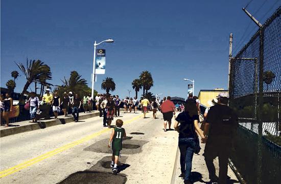 The Santa Monica Pier's bridge interim pedestrian access improvements begin today