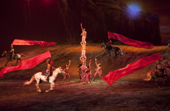 Cavalia's Odysseo is a theatrical experience currently performing in Burbank. The show is an ode to horse and man that marries the equestrian arts