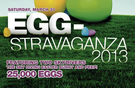 Egg-stravaganza 2013 will be held this Saturday