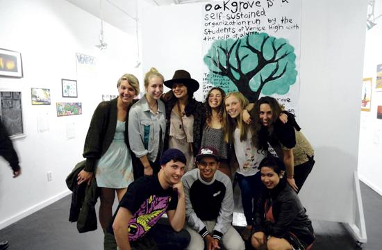 Venice High School students at the Trunk Gallery fundraiser on March 30. The students raised funds for the school's retreat program called Oakgrove.