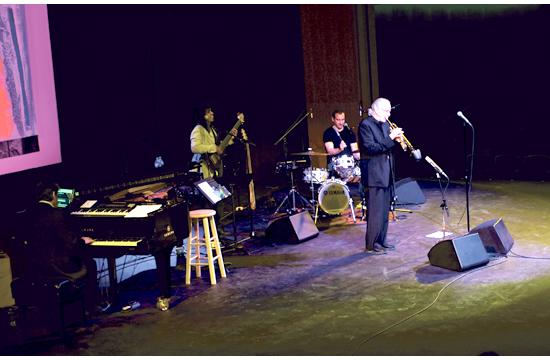 Herb Alpert and his band perform the inaugural concert at the brand new Ann and Jerry Moss Theater on March 24.