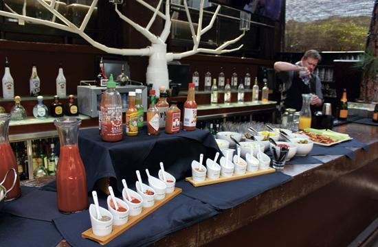 The walk-up Bloody Mary station at Wilshire restaurant's new Sunday brunch