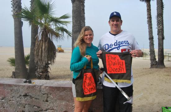Former LA Dodgers pitcher Tim Leary and Sara Bayles are teaming up to coordinate a beach cleanup day at Santa Monica Beach this Saturday