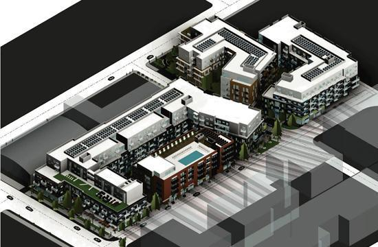 The East Village development