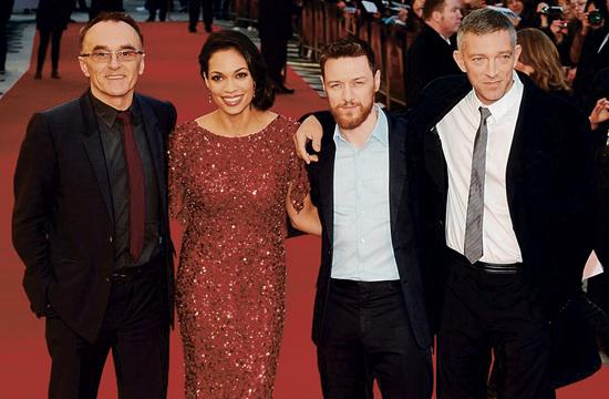 Director Danny Boyle (from left) with Rosario Dawson
