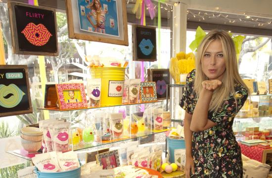 "Maria Sharapova has forayed into the world of satisfying sugar rushes with her own candy line called ""Sugarpova."""