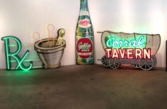 A new exhibition opens Saturday at JNA Gallery in Santa Monica featuring neon signs.