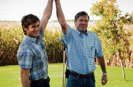 """Zac Efron (left) as Dean and Dennis Quaid as Henry in """"At Any Price."""""""