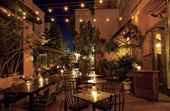 41 Ocean is a members-only club hidden in a courtyard behind the store fronts on Ocean Avenue.