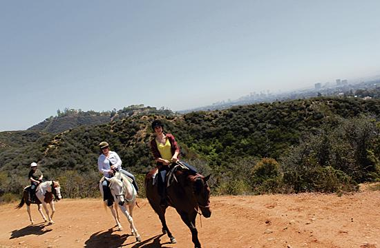 Enjoy views of Los Angeles and Santa Monica Bay from the top of a horse at Will Rogers State Historic Park