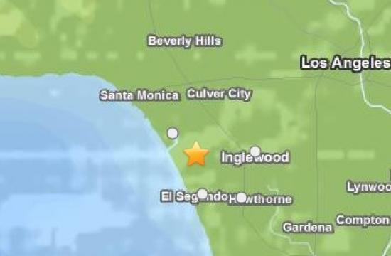 An earthquake struck near Marina del Rey on Friday