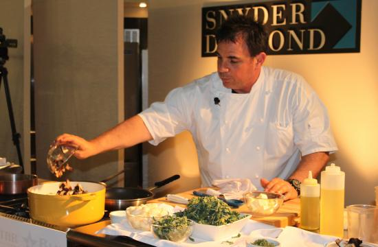 Josiah Citrin gave a cooking demonstration Wednesday night at Snyder Diamond in Santa Monica.
