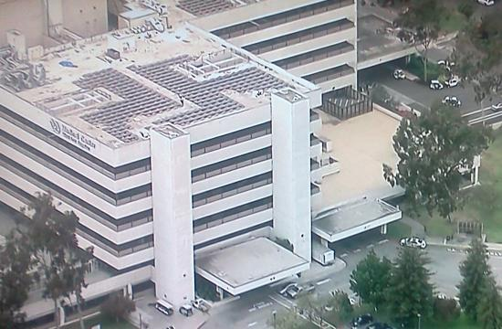 The emergency room was evacuated Monday morning at the Veterans Administration's West Los Angeles Medical Center.