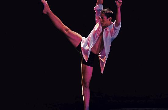 Glenn Rodriguez in Global Motion World Dance Company's 'Poverty and Wealth' at Santa Monica College.