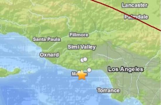 The small earthquake struck two miles southeast of Malibu.