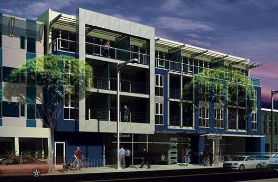 A rendering of the 53-unit development at 1318 Second Street that was approved Tuesday night at City Council in a narrow 4-3 vote.