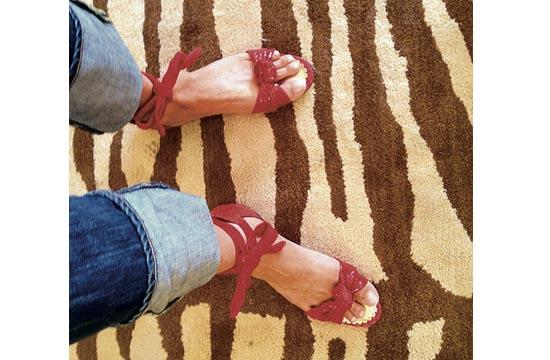 London Sole's red sandals – so innocently sexy.
