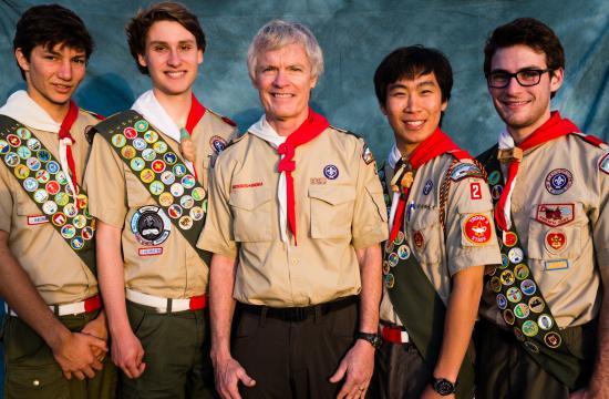 June 2013 Troop 2 Eagle Scout candidates (from left) Jake Alfred Erlandson
