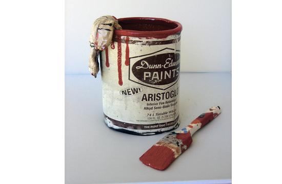 Rebecca Catterall's 'Red Can' is one of the pieces on display as part of the Topanga Canyon Gallery Studio tour this Saturday