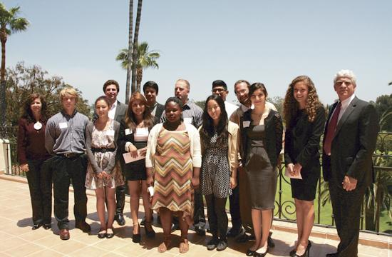 The 2013 Rotary Club of Santa Monica scholarship award winners.