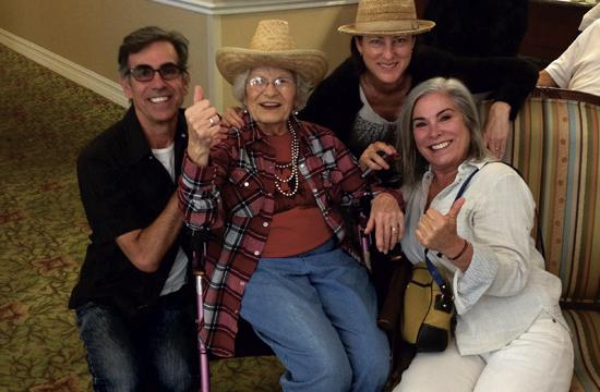 Santa Monica resident Sadie Fanali met her pen pal of 80 years for the first time last weekend through a gift from the Wish of a Lifetime Foundation. She is pictured at her Bon Voyage Party with her children earlier this month.