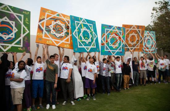 The exhibition features the collective work of 60 youth hailing from Doha