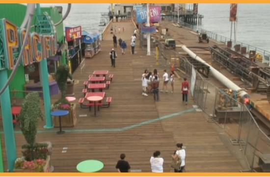 Pacific Park now has three live web cams on the Santa Monica Pier.