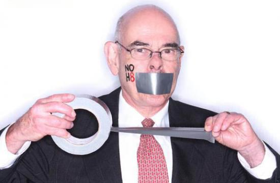 Henry Waxman's portrait was released today by the NOH8 campaign.