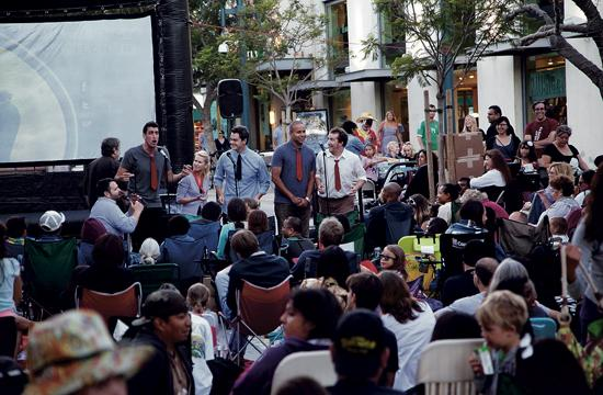 """M.i.'s Westside Comedy Theater will provide pre-show comedy performances at """"Cinema on the Street"""" screenings that return to the Third Street Promenade on July 12."""