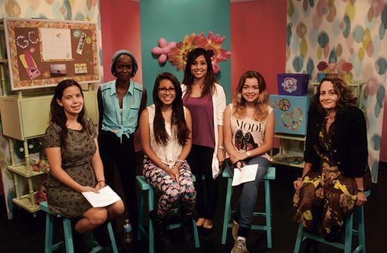 "YWCA Santa Monica Westside's ""Girl Central"" show was one of 13 series produced at Santa Monica's new CityTV studio this season. From left: Dali Nemecio"