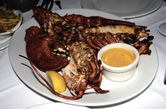 The Lobster serves up grilled American lobsterson its ever changing menu. New menus are printed daily before each lunch and dinner.