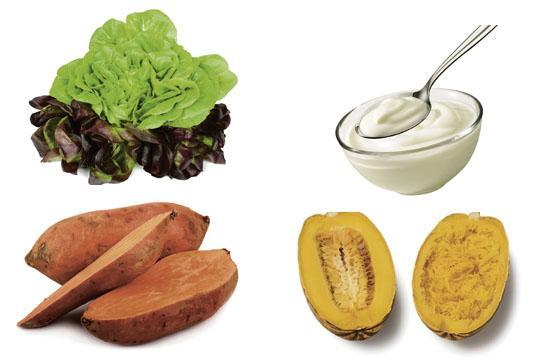 Slowly swap in healthier items - such as lettuce