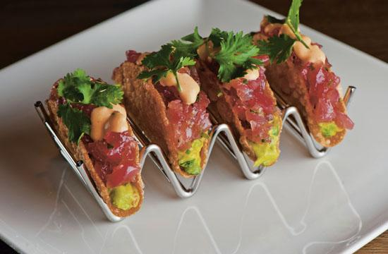 The Ahi Tuna Tacos are among Del Frisco's signature dishes.