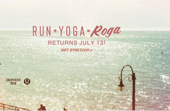 Roga is held Saturday from at 8-10 am at the Santa Monica Pier.