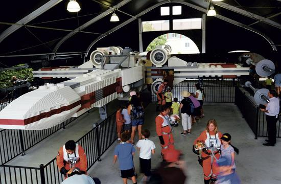The Star Wars X-wing starfighter is on display at Legoland California through the end of the year. It is the largest Lego model in the world.