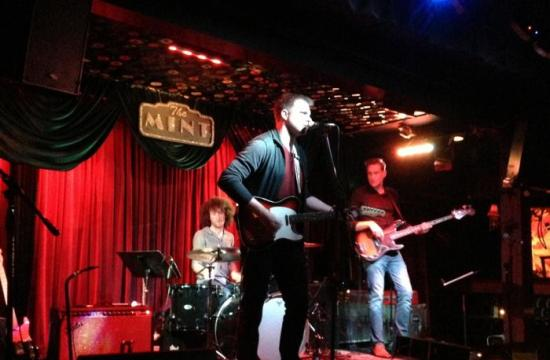 Brandon Alan performing at The Mint in June. He will perform in Santa Monica this Sunday morning.
