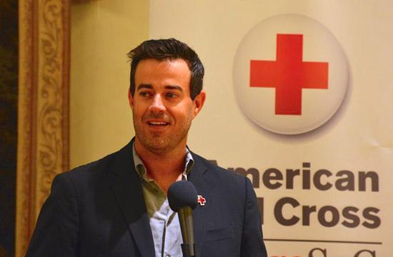 Carson Daly has thrown his support behind the American Red Cross in Santa Monica.