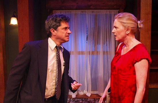 """Robert Cicchini as Chuck and Eve Gordon as Martha in """"Open House"""" on stage at the Skylight Theatre Company."""