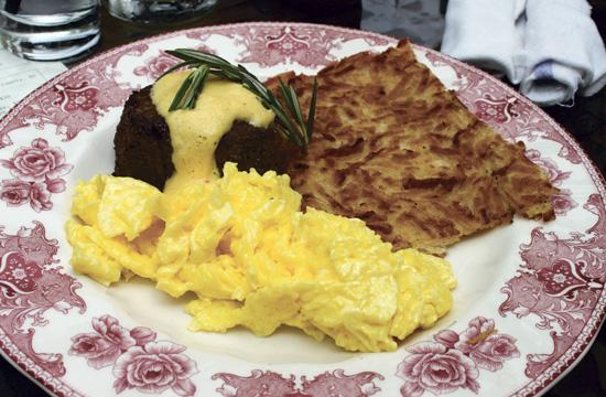 The steak and eggs is a popular brunch item