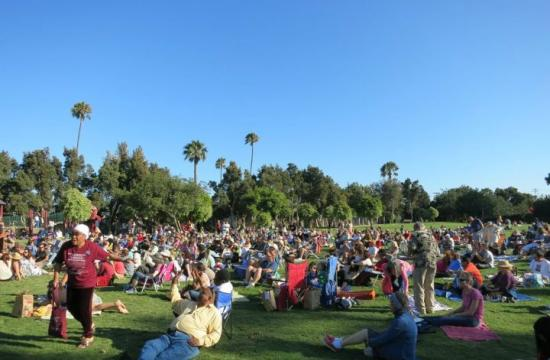 The 2013 Jazz on the Lawn Series is held from 5-7 pm each Sunday in August at Stewart Park in Santa Monica.