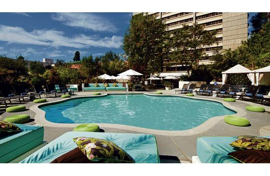 The W Los Angeles - Westwood hosts a free weekly Sunday pool party from 11:30 am to 6 pm.