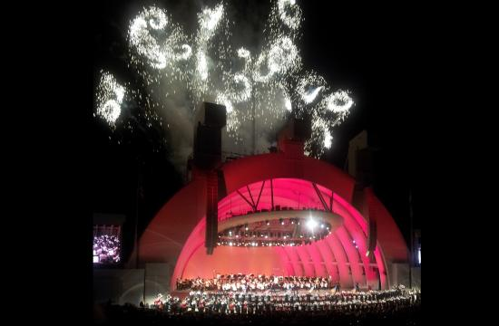 The Tchaikovsky Spectacular culminated with thrilling fireworks at the Hollywood Bowl on Friday and Saturday.