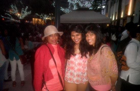 Sri Lankan actress Gothami Pathiraja with Oshadi De Silva and Sue De Silva at Saturday's Sri Lanka Festival on the Third Street Promenade.