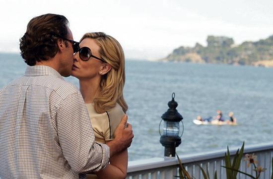 "Peter Sarsgaard and Cate Blanchett star in Woody Allen's ""Blue Jasmine."""