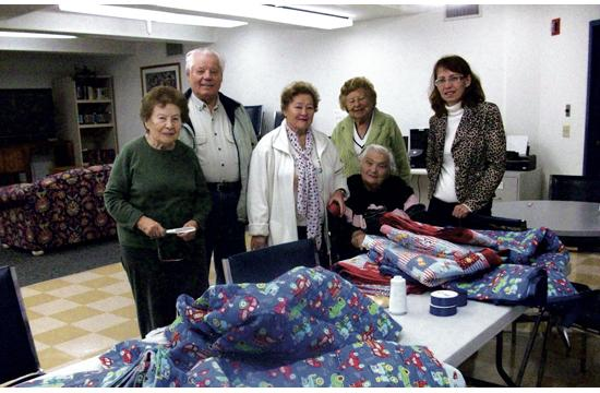 Residents at The Wilshire House have been sewing