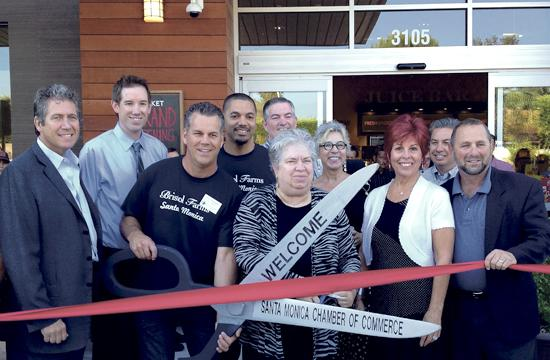 A ribbon-cutting ceremony was held Wednesday for Santa Monica's first Bristol Farms store.