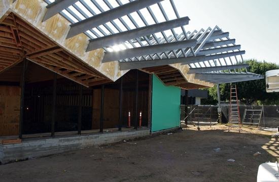 Construction of the Pico Branch Library is about 50 percent complete with completion scheduled for early 2014.