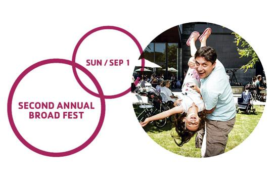 The 2nd Annual Broad Fest will be held Sunday Sept. 1 from 11 am to 3 pm.